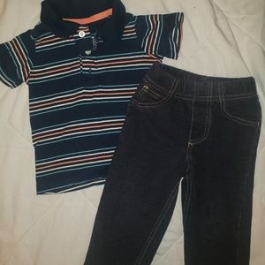 Carter outfit size 12 months